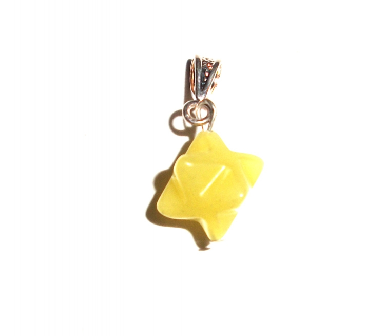 Yellow jade merkaba pendant 19617 199 the gem tree yellow jade merkaba pendant larger image aloadofball Image collections