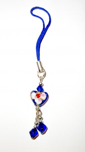 Small Heart - Cloisenne Handbag / Mobile Phone Charm