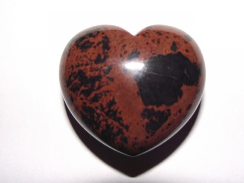 Mahogany Obsidian Gemstone Crystal Heart - Large
