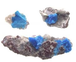 1 Cavansite Flower Gemstone Specimen on Matrix Rock