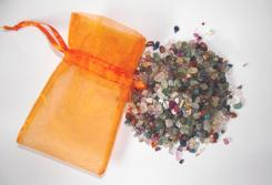 100gms Of Assorted Chip Crystals In Organza Pouch