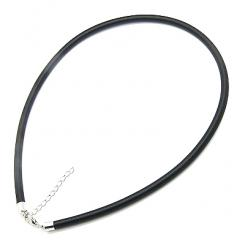 18 Inch Black Silk Necklace Cord 3mm Thick