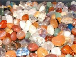 30 Assorted Crystals, Minerals + Gemstones In Pouch