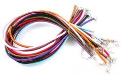 50 Coloured Silk Necklace Cords with Clasp