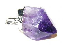 Amethyst Point Gemstone Pendant - Sterling Silver