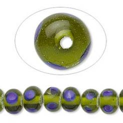 Green And Blue Lampworked Beads