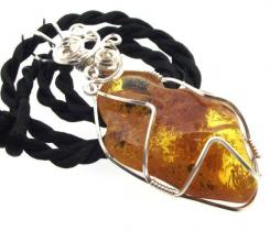 Baltic Amber Wire Wrapped Pendant Design 2