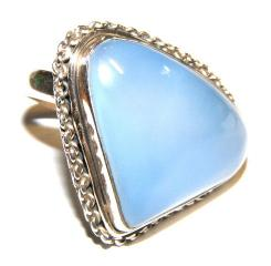 Blue Chalcedonny .925 Sterling Silver Ring - T