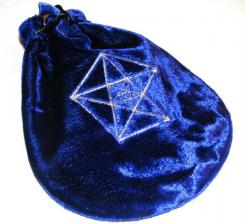 Blue Treble Pentagram Tarot Bag Drawstring Pouch