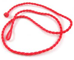 18 Inch Bright Red Twisted Silk Cord Necklace Thong for Pendants