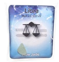 Libra Birthstone Zodiac Crystal With Pouch And Card