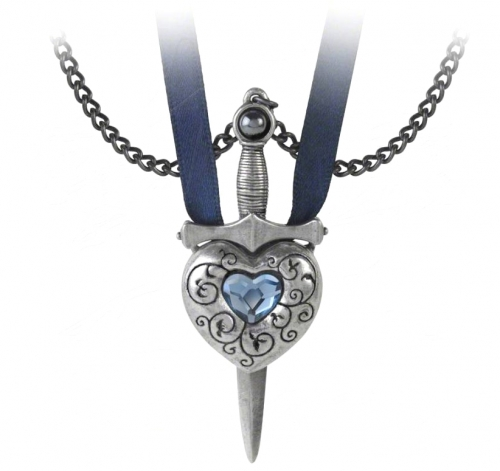 Love is King - Sword Heart Necklace