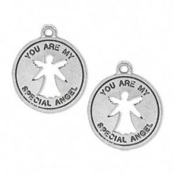 2 x You are My Special Angel Cut Out Metal Charms
