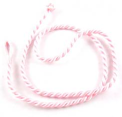 18 Inch Pink Twisted Silk Cord Necklace Thong for Pendants