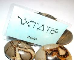 Raziel Angel Script Talisman Card / Knowledge + Help