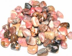 Rhodonite Tumbled Gemstone Crystals - Set Of 5