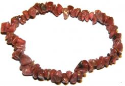 Rhodonite Gemstone Chip Bracelet