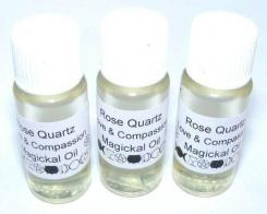Rose Quartz Gemstone Magickal Oil for Love and Compassion