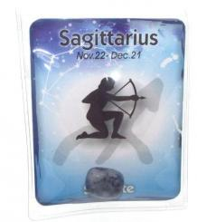 Sagittarius Birthstone Zodiac Crystal Pouch And Card