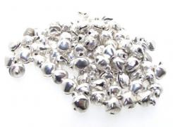 Silver Finished 6mm Steel Jingle Bells Pack of 100