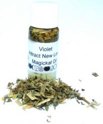 Violet Magickal Oil Love Protection Luck Fortune