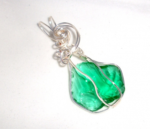 Andara Crystal Wire Wrapped Pendant 9
