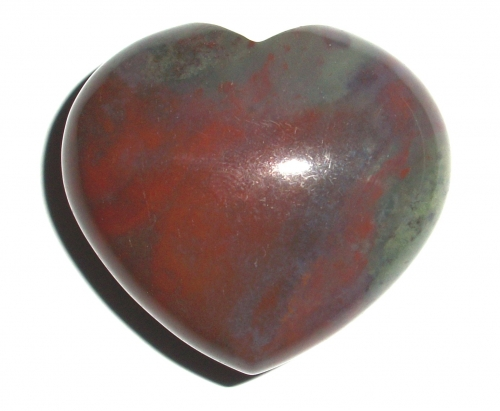 Bloodstone Gemstone Heart Carving - Large