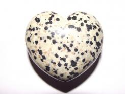 Dalmation Jasper Gemstone Crystal Heart - Large