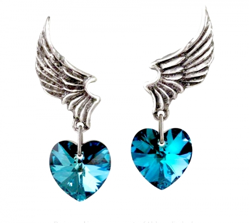 El Corazon (Pair) - UL17 Pewter Earrings