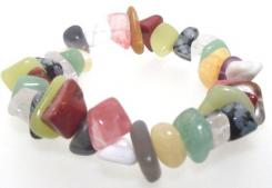 Mixed Freeform Gemstone Chip Bracelet