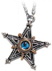 Medieval Alchemy Gothic Pewter Pentangle Pendant