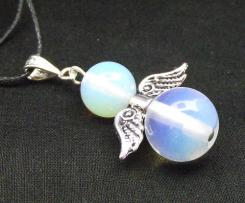 Opalite Gemstone Guardian Angel of Light Pendant