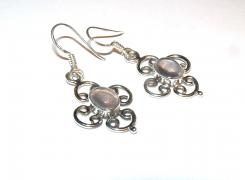 Quartz Ornate Earrings - .925 Earrings