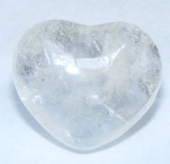 Quartz Polished Gemstone Crystal Heart - Large