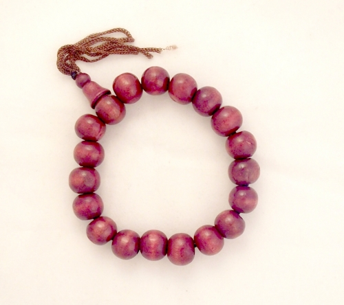 Wood Bead Fully Elasticated Bracelet