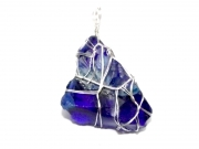Merlin Blue Andara Wire Wrapped Pendant 2