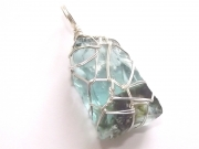 Two Tone Andara Wire Wrapped Pendant
