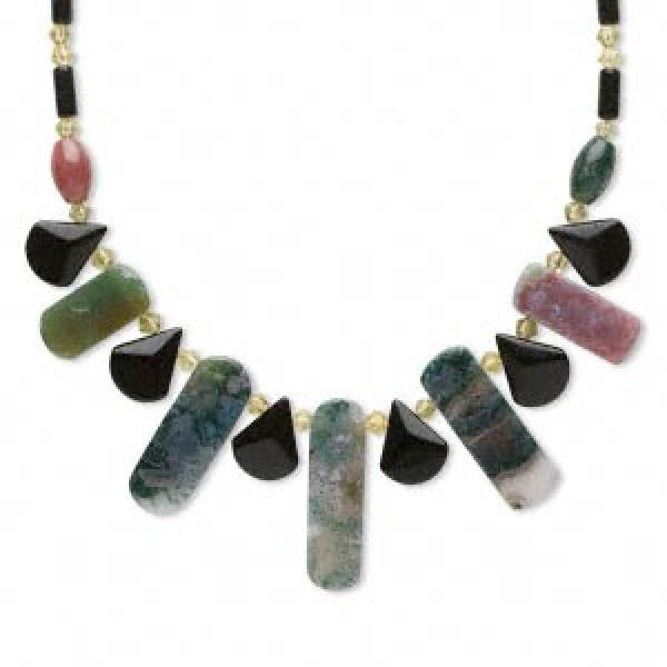 Moss Agate Gemstone Necklace