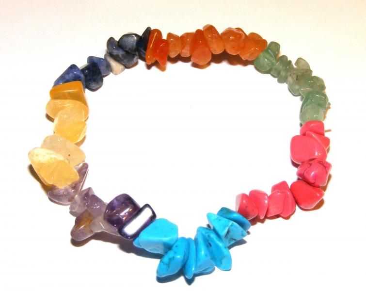 Multi Gem Gemstone Chip Bracelet