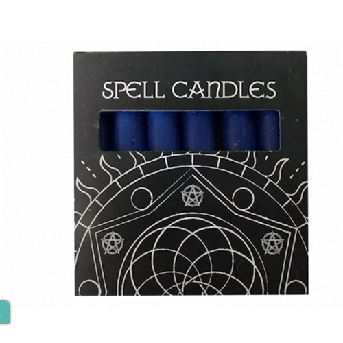 Navy Blue Mini Spell Candles Pack Of 6