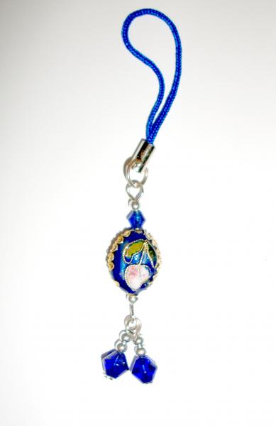 Royal Blue Oval - Cloisenne Handbag / Mobile Phone Charm
