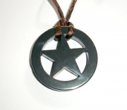 Pentacle Star Carved Hematite Pendant