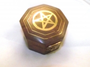 Pentagram / Pentacle Octagon Wooden Box
