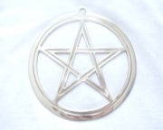 Brass Pentagram / Pentacle Wall Plaque