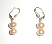 Pink Pearl Droplet Earrings