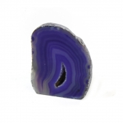 Agate Freestanding Geode Carving - Purple