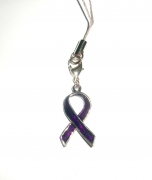 Purple Ribbon Awareness Charm