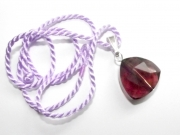 Purple Andara Triangle Cut with Necklace Cord