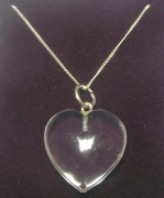 Quartz Gemstone Heart Sterling Silver Pendant with Chain