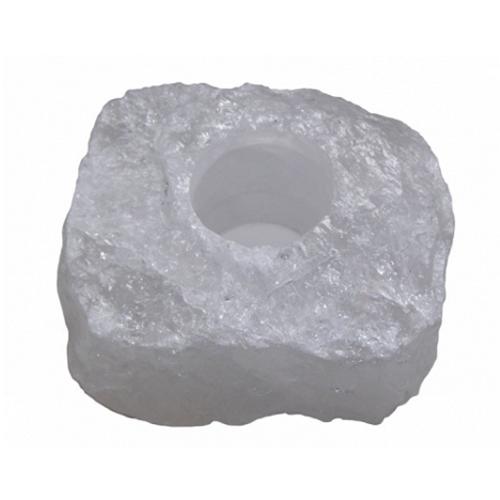 Quartz Rock Crystal Tealight Candle Holder